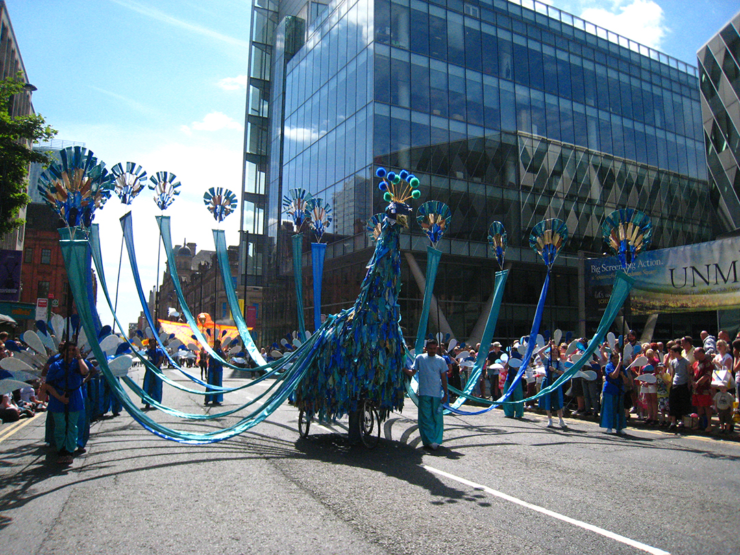 Giant Peacock at Manchester Day 2015