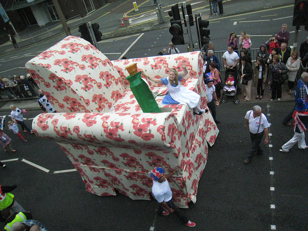 Giant Chair at Preston Guild Parade 2012